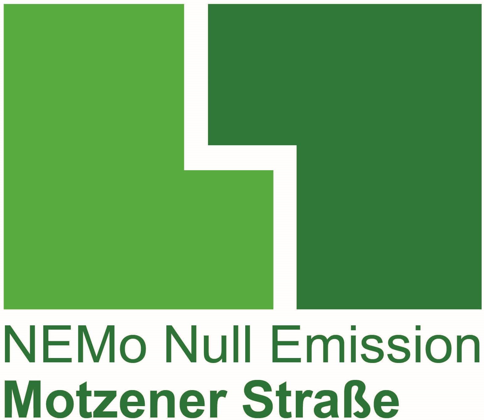 NEMO Null Emission Motzener Straße grünes Logo